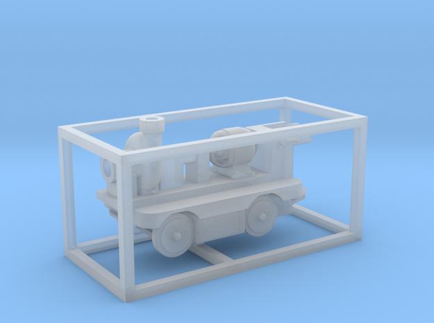 E-Karren Flachwagen Pumpe (ALT) - 1:120 TT in Smooth Fine Detail Plastic