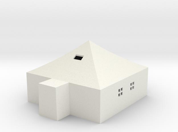 Tent 05x05 20190331b in White Natural Versatile Plastic