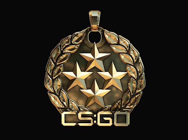 CS:GO - Gold Nova Master Pendant in Polished Brass
