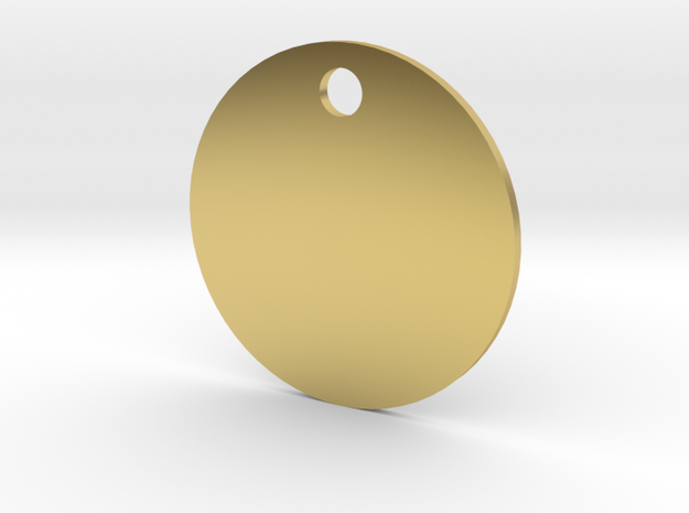 Background Pendant - Flat Circle - #P5B in Polished Brass