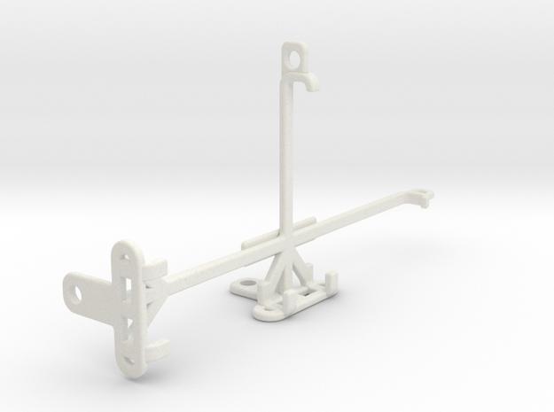 BLU Vivo XL4 tripod & stabilizer mount in White Natural Versatile Plastic