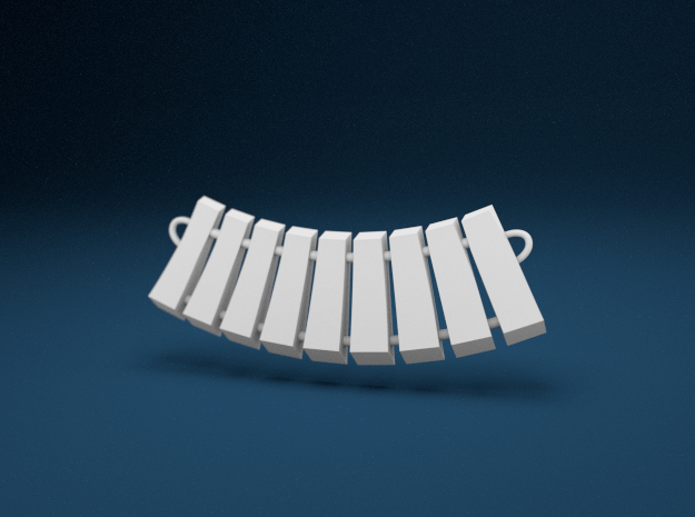 Keyboard Necklace in White Strong & Flexible