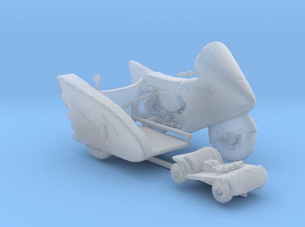 Batcycle, sidecar, gocart 160 scale in Smooth Fine Detail Plastic