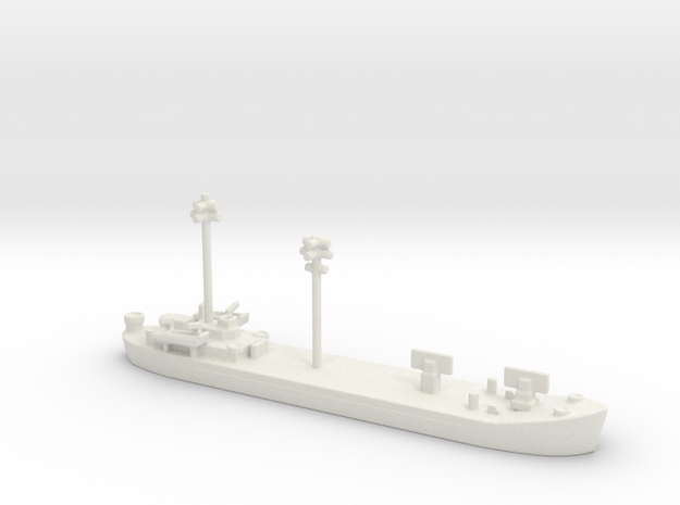 landing ship tank 1/1200 fdt Fighter Direction Ten in White Natural Versatile Plastic