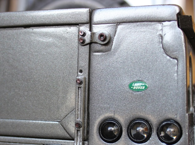 Defender Pickup Tailgate Latches in Polished Bronzed Silver Steel