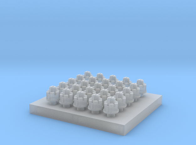 Slotted Nut Set 1:20.3 in Smoothest Fine Detail Plastic