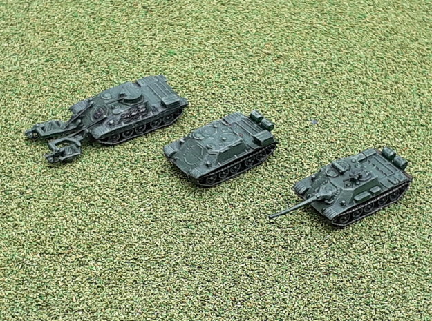 Russian SU-122 & TOP & BMR-1 1/285 in Smooth Fine Detail Plastic