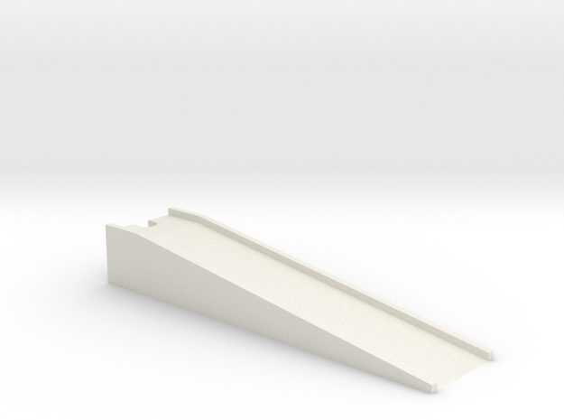 N scale TOFC Ramp in White Natural Versatile Plastic