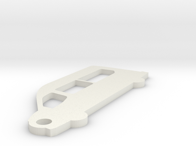 Ford Transit Wagon Keychain in White Natural Versatile Plastic