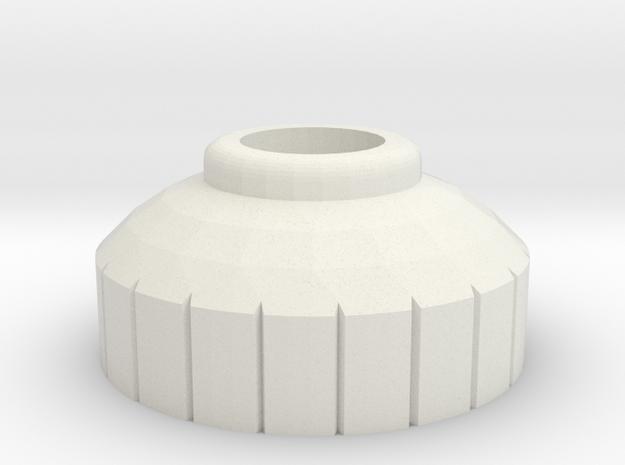 PRNT3D 4mm Bottle Nip [Short] in White Natural Versatile Plastic