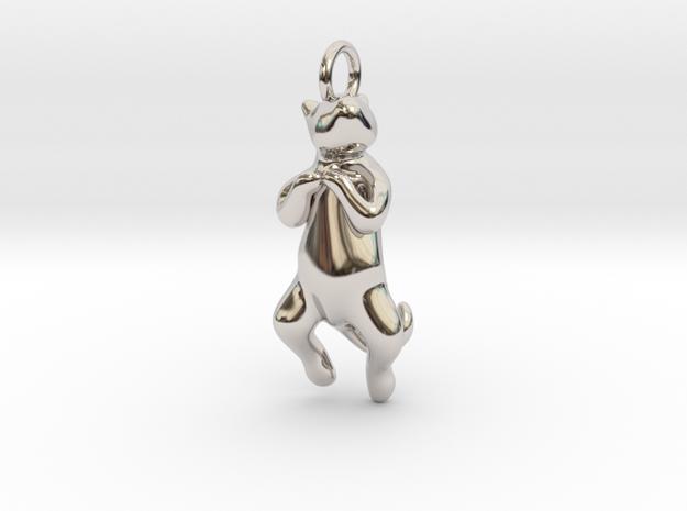 cat_013 in Rhodium Plated Brass