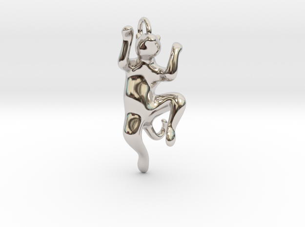 cat_016 in Rhodium Plated Brass