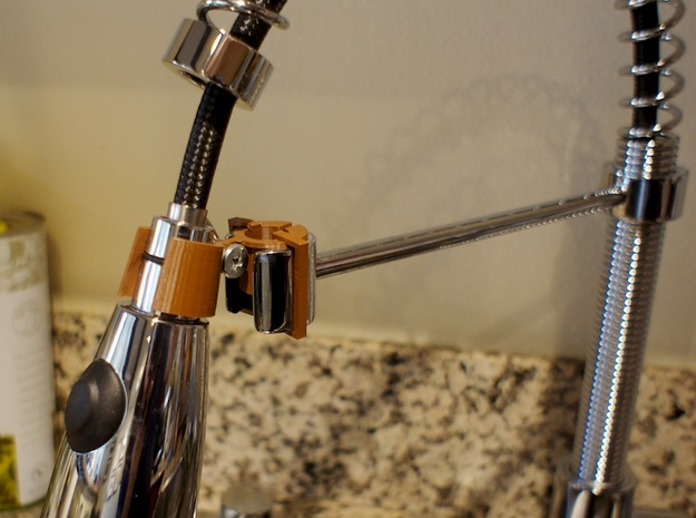 Adjustable Kräus Faucet Mount 3d printed