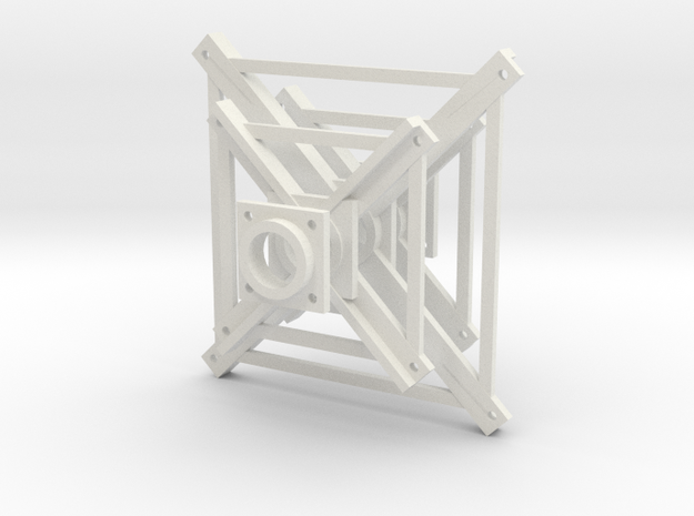 """'N Scale' - 3/32"""" Truss Frame in White Natural Versatile Plastic"""