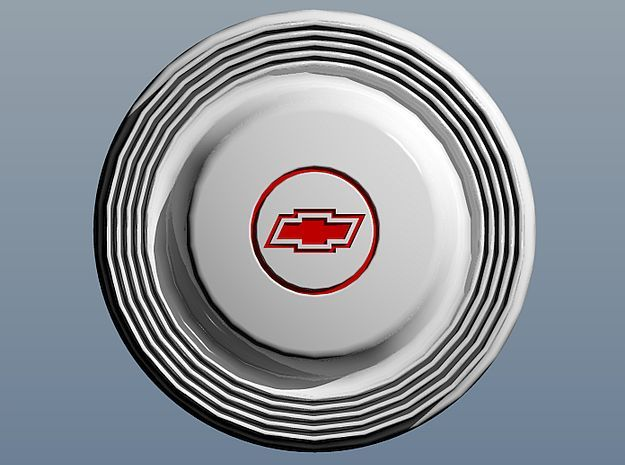 1966 Chevy Hubcaps in Smoothest Fine Detail Plastic