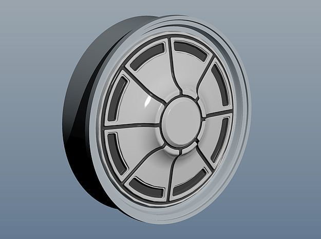 1971 Plymouth Hubcaps in Smoothest Fine Detail Plastic