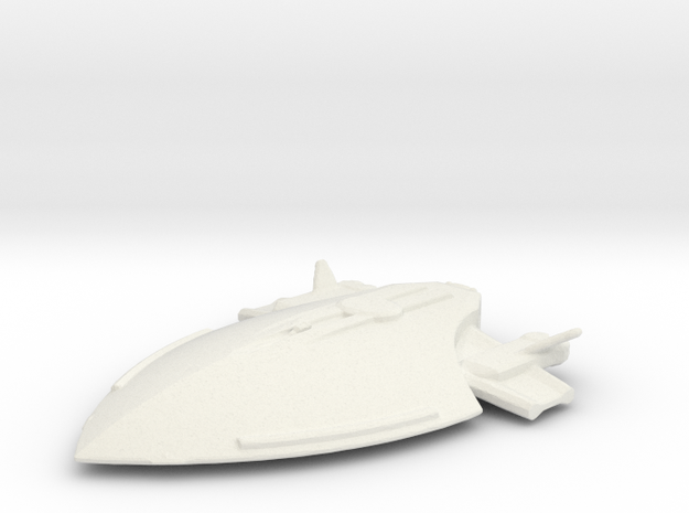Federation attack ship in White Natural Versatile Plastic
