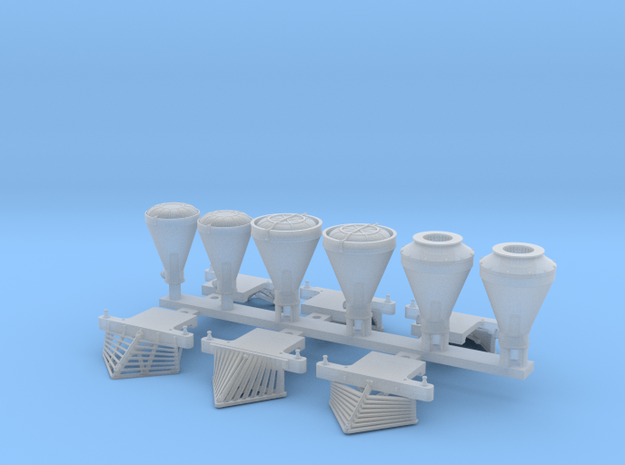 N scale pilots and smokestacks for Atlas 4-4-0