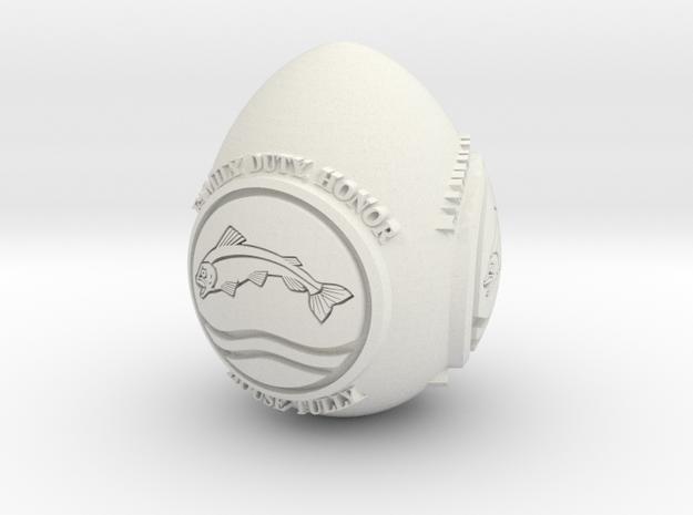 GOT House Tully Easter Egg in White Natural Versatile Plastic