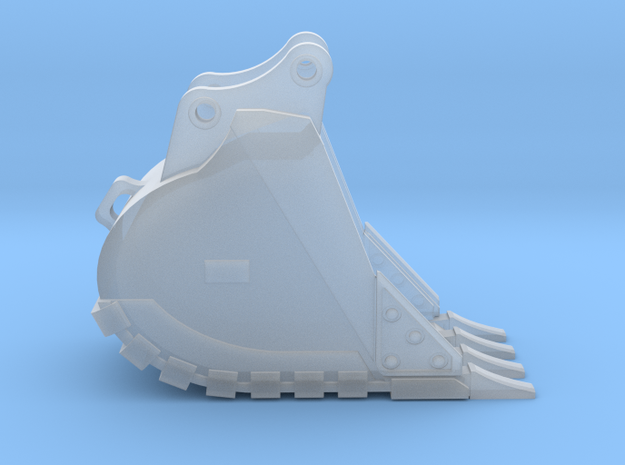 """1:50 24"""" Bucket for 20 Ton excavators V2. in Smooth Fine Detail Plastic"""