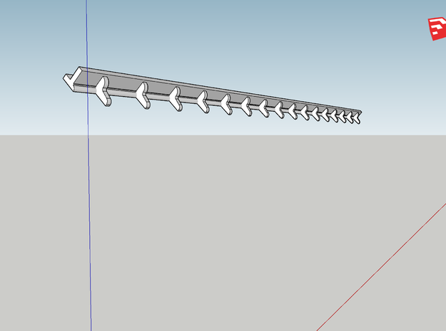 Yankee Gutter in HO 8x in Smooth Fine Detail Plastic