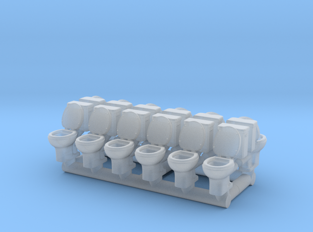 Toilet 01. 1:150 Scale  in Smooth Fine Detail Plastic