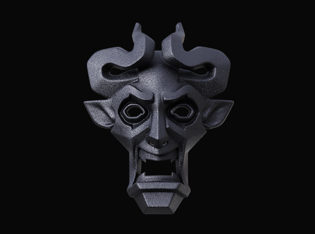 Number of the Beast pendant (the Devil's Pendant) in Matte Black Steel