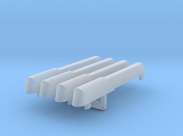 1/1000 Re-imagined Warp Plasma Conduits 4 pack in Smoothest Fine Detail Plastic
