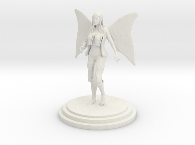 Fairy Girl in White Natural Versatile Plastic