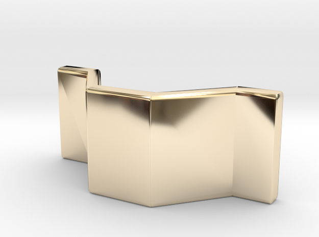 Barrier1 in 14k Gold Plated Brass