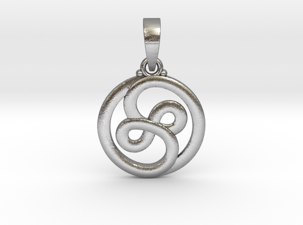 YinFinity Pendant in Natural Silver (Interlocking Parts)
