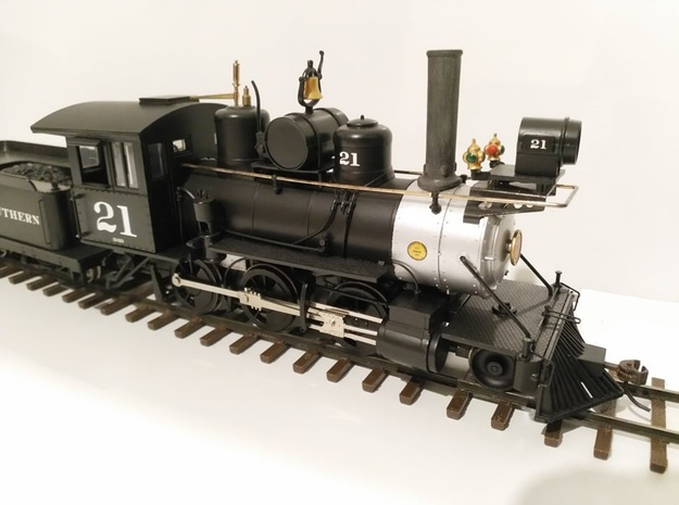 On30 Straight Stack for Bachmann 2-6-0 Mogul in Smooth Fine Detail Plastic