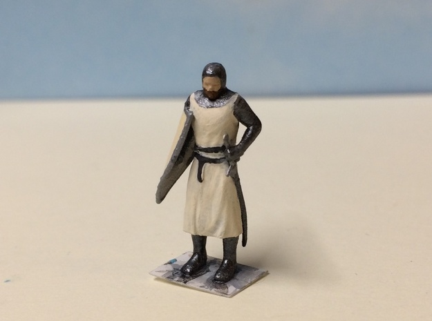 Knight Templar Standing in Smoothest Fine Detail Plastic: 1:64 - S