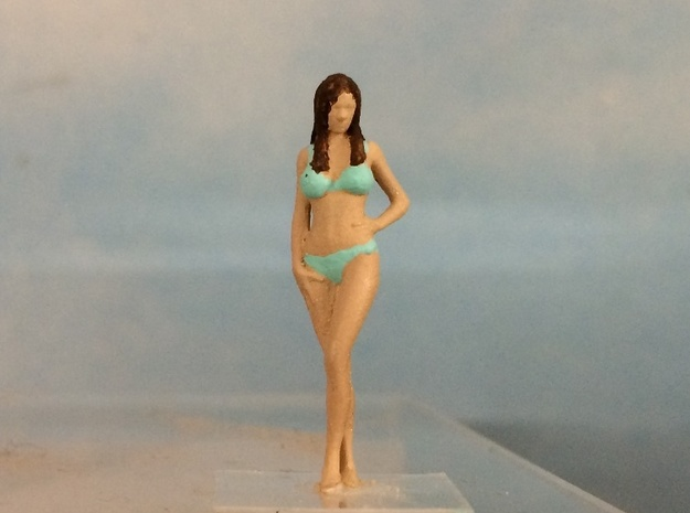 Female Bikini Standing Sexy Pose in Smoothest Fine Detail Plastic: 1:64 - S