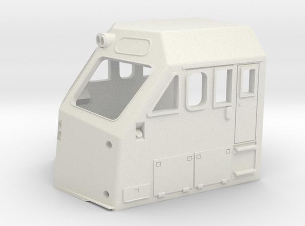 HO Scale Metra F40PHM-2 Cab  in White Natural Versatile Plastic