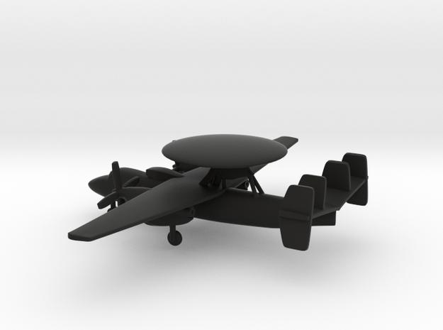 Northrop Grumman E-2 Hawkeye in Black Natural Versatile Plastic: 1:285 - 6mm