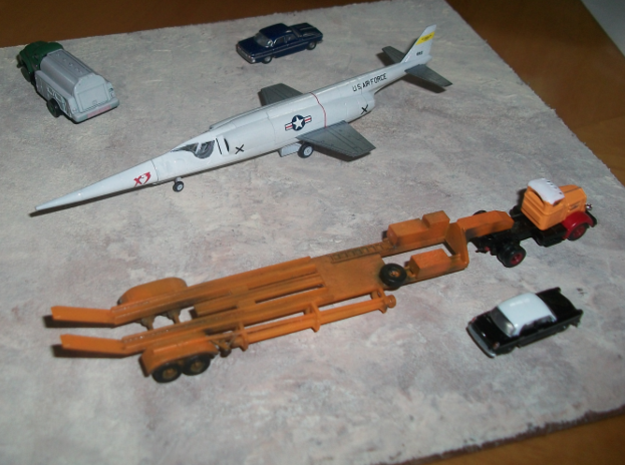 019A Trailer for X-3 Stiletto in Smooth Fine Detail Plastic