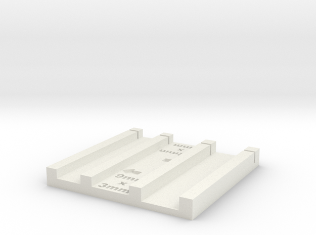 3mmx9mm and 4mm x 12 mm brick jig in White Natural Versatile Plastic