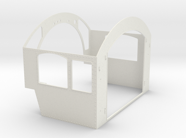 G Scale reading T1 Cab Assembly in White Natural Versatile Plastic