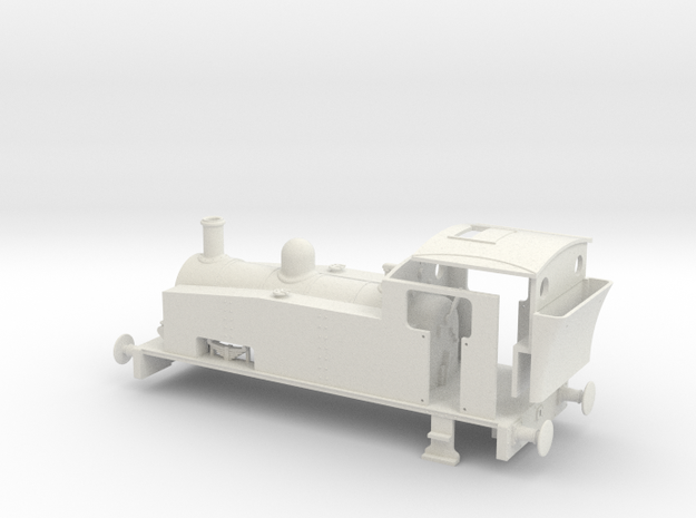 Hudswell Clarke 0-6-0 shunter (for RTR chassis) in White Natural Versatile Plastic
