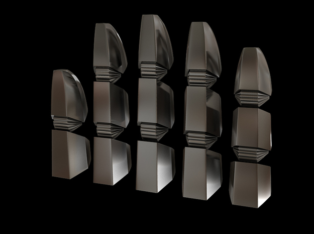 Iron Man Steel Fingers - One Hand in Polished Bronzed Silver Steel