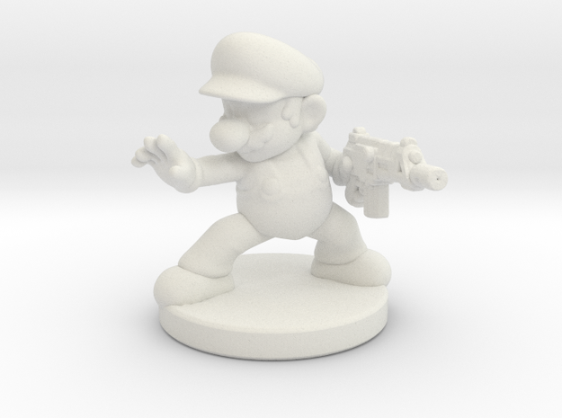 Mario Bros survivor 1/60 miniature for games rpg in White Natural Versatile Plastic