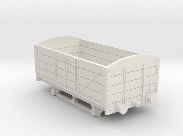L&BR Open Wagon w/ Buffers OO Scale in White Natural Versatile Plastic