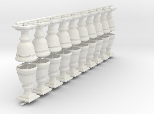 pot de fleur sncb  mnsb O 20 pièces in White Natural Versatile Plastic: 1:43.5