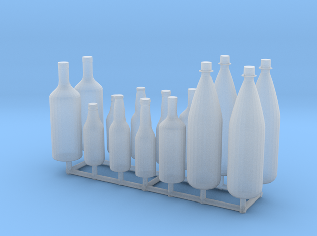 1/24 1/25 Beer bottles for display or diorama in Smooth Fine Detail Plastic