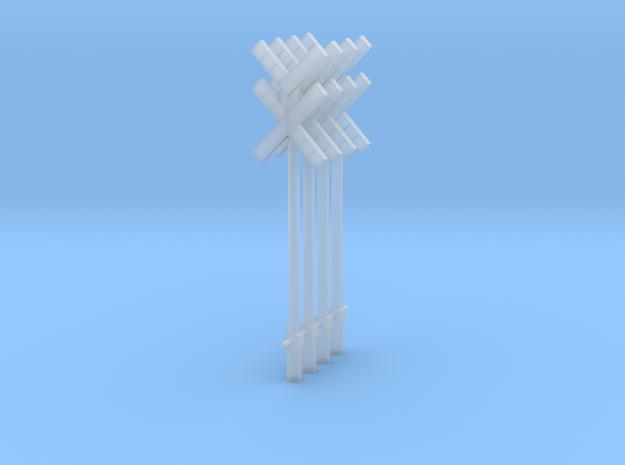croix de st andré double SNCB MNSB epoque 5 4 piec in Smooth Fine Detail Plastic: 1:87 - HO