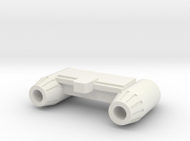 Devcon_Small in White Natural Versatile Plastic