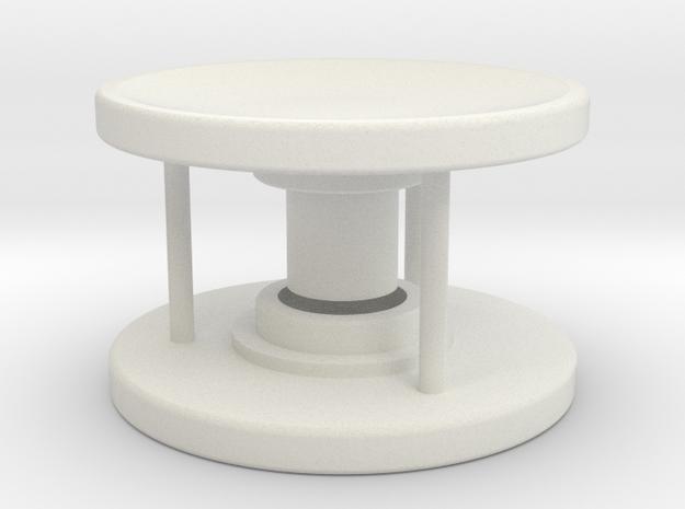 Spinner Caps - Screw Design (Pair) in White Natural Versatile Plastic
