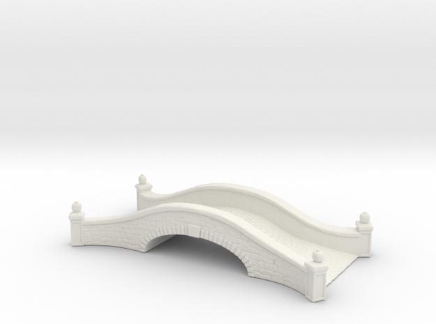 Stone road bridge 1/100 in White Natural Versatile Plastic