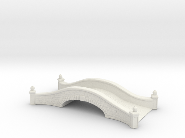 Stone road bridge 1/87 in White Natural Versatile Plastic